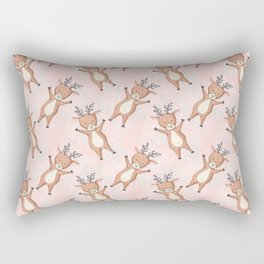 Christmas Deer Pattern Rectangular Pillow