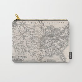 Paving and road distances on the United States highways (1931) Carry-All Pouch