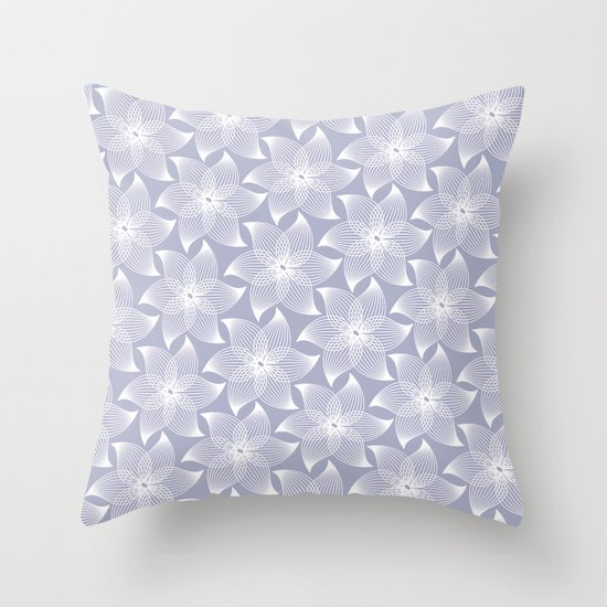 Pale flower pattern Throw Pillow