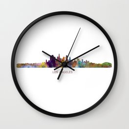 Los Angeles City Skyline HQ v1 Wall Clock