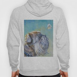 Brussels Griffon dog portrait from an original painting by L.A.Shepard Hoody