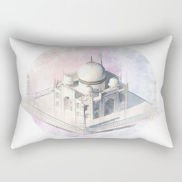 Agra Taj Mahal - axonometric Rectangular Pillow