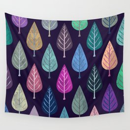 Watercolor Forest Pattern IV Wall Tapestry