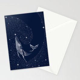 starry whale Stationery Cards