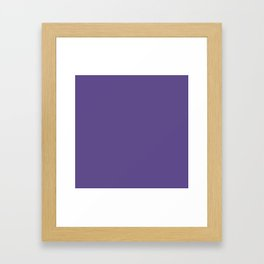 Ultra Violet Purple - Color of the Year 2018 Framed Art Print