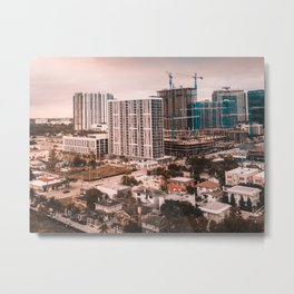 Biscayne buildings Metal Print