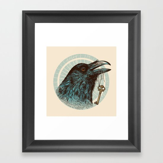Raven's Head Framed Art Print
