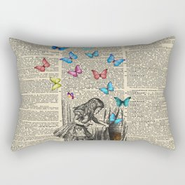 Alice In Wonderland - Let The Adventure Begin Rectangular Pillow