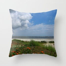 East  Beach -  Golden IsIes Throw Pillow