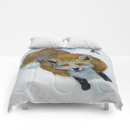 Fox and Chickadee Comforters
