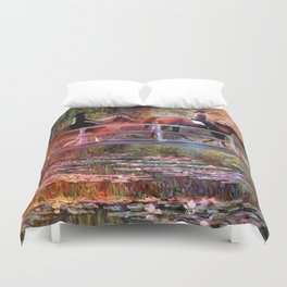 Riding with Monet Duvet Cover