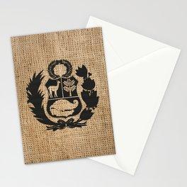 Peru Rustic Shield Stationery Cards