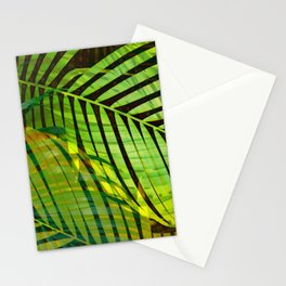 TROPICAL GREENERY LEAVES no1b Stationery Cards