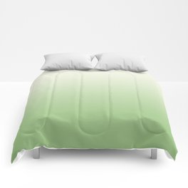 Ombre Paradise Green Pale Creme Comforters