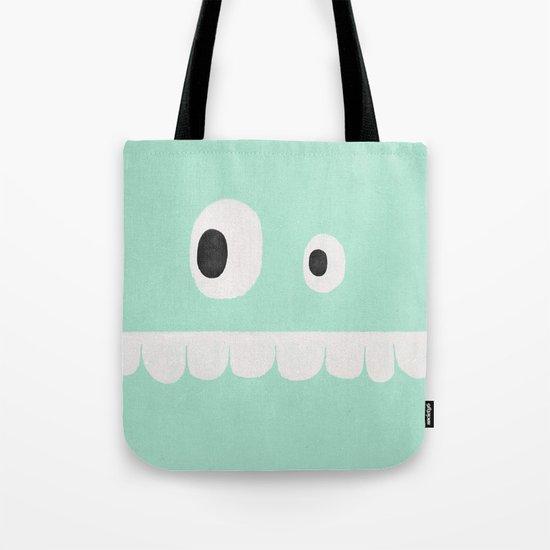 Face VI (mint green) Tote Bag