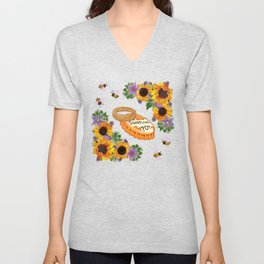 RWBY - Sunflower Pop the Question (Flight of the BMBLBs) Unisex V-Neck