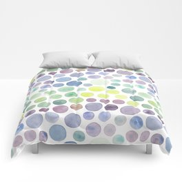Dots purple and green Comforters