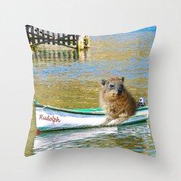 Rudolph at Sea Throw Pillow