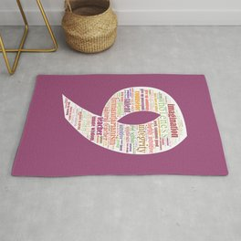 Life Path 9 (color background) Rug