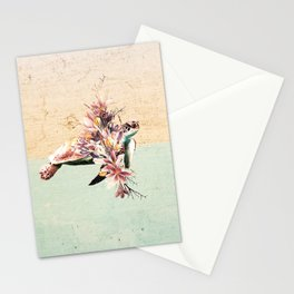 Turtle and bouquet Stationery Cards