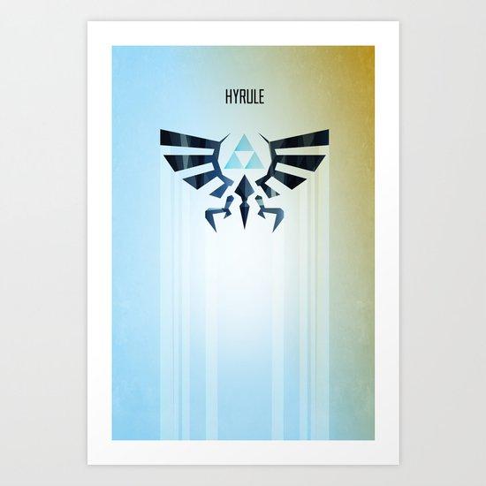 The Legend of Zelda - Hyrule Rising Poster Art Print