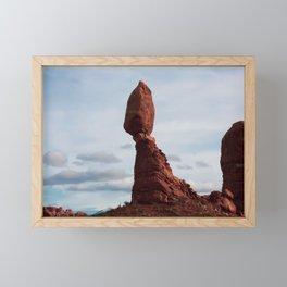 Balanced Rock. Arches National Park. Utah. USA. Framed Mini Art Print