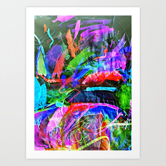 Lily's Watercolor Inverted Art Print