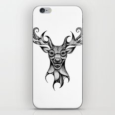 Henna Inspired Stag Head by Ashley-Rose Standish iPhone & iPod Skin