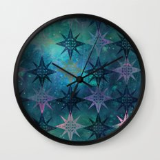 Bohemian Night Skye - Green Wall Clock