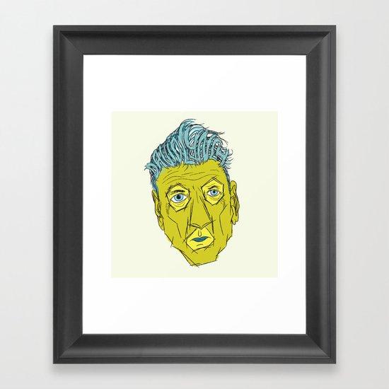 DAVID LYNCH AGAIN Framed Art Print