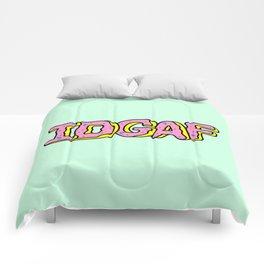 IDGAF Pink Donuts Comforters