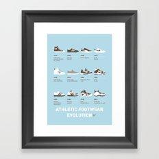 My Evolution Sneaker minimal poster Framed Art Print