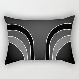 Black Bars Rectangular Pillow