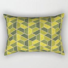 Pattern of three – green Rectangular Pillow