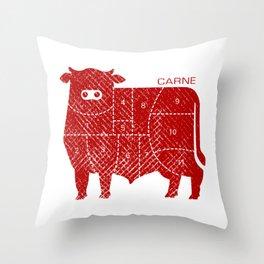 carne Throw Pillow