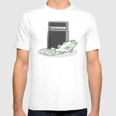 I PLAY BASS Mens Fitted Tee SMALL White
