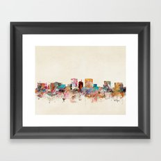 el paso texas skyline Framed Art Print