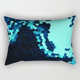 Blue Geometric Landscape Rectangular Pillow