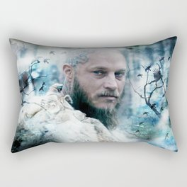 King of snow ravens. Rectangular Pillow