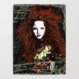 Redhead Girl Poster