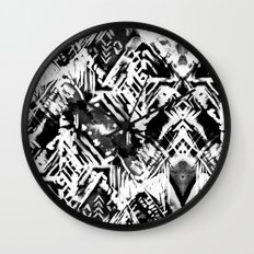Ikat #5E Wall Clock