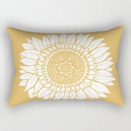 Yellow Sunflower Drawing Rectangular Pillow