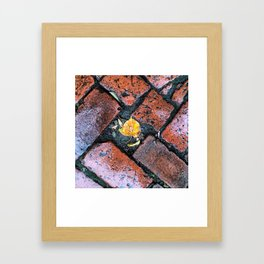 Brick Beauty Framed Art Print