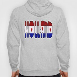 Holland Netherlands Font with Dutch Flag Hoody