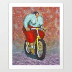 Ciclista Art Print