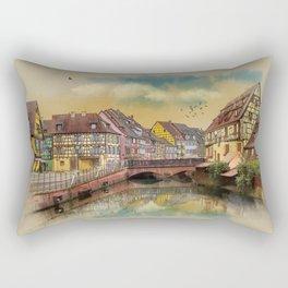 panorama city of Colmar France Rectangular Pillow