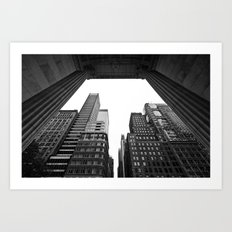 New York under the rain Art Print