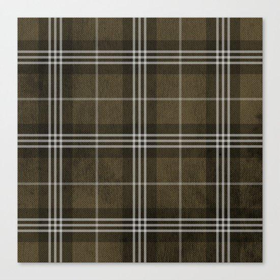 Grungy Brown Plaid Canvas Print