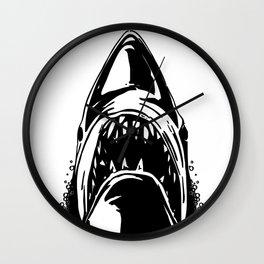 Shark. Scary jaws of deep sea waters. Wall Clock