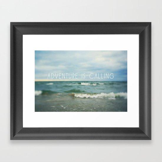 Adventure is Calling - Waves Framed Art Print